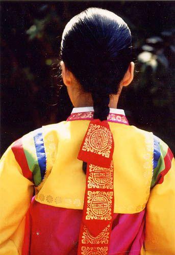 Image result for 댕기 머리