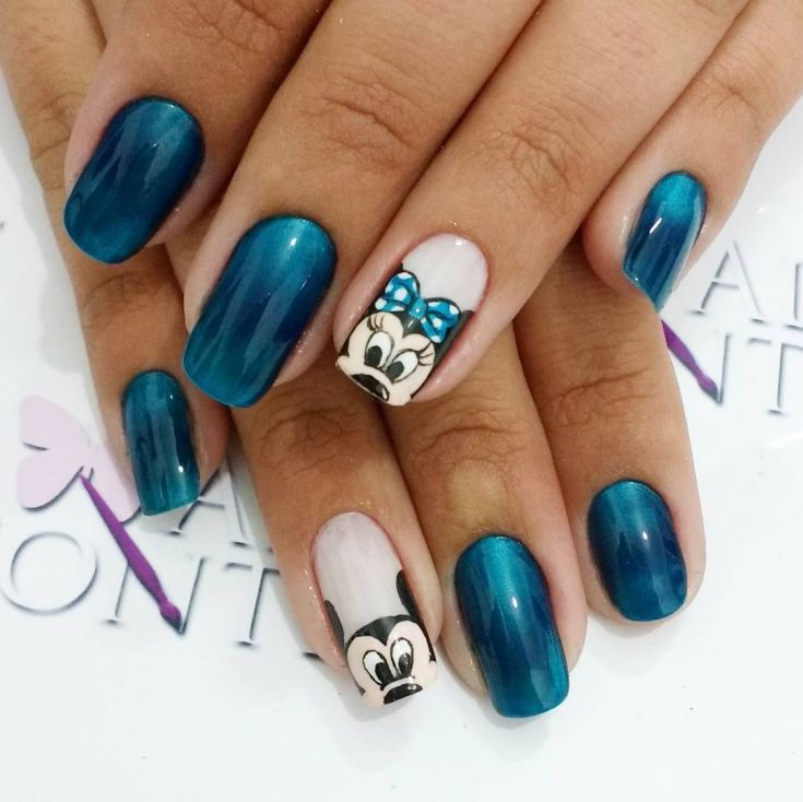 Best 50 mickey and minnie mouse nail designs 2017/2018