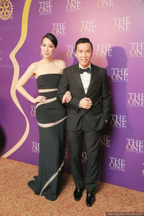 Donnie Yen and wife Cecilia Wong at awards ceremony ...