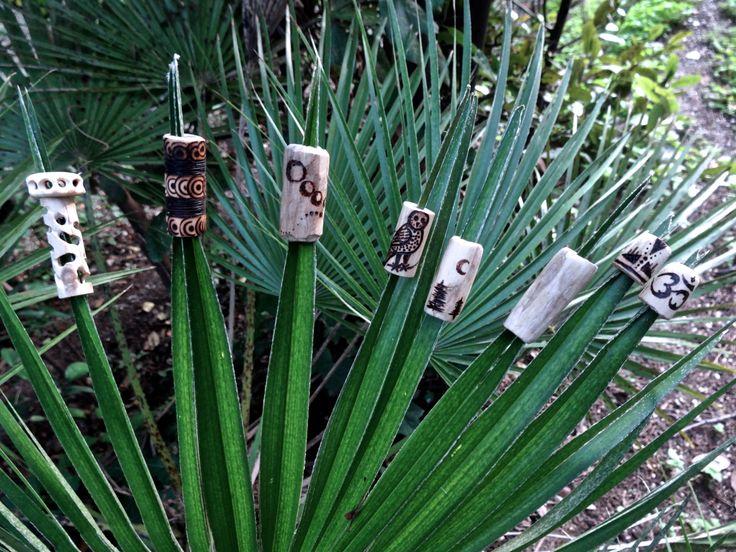 Organic Hand crafted Dreadlock beads!   #dreadlocks #dreadbeads