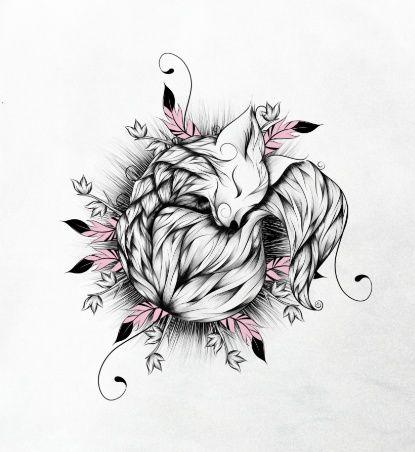 Little Fox Pink Version  Art Print