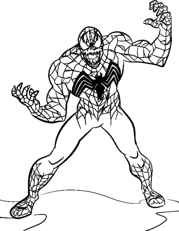 The Evil Venom Spiderman Coloring Pages