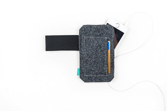 iPhone sleeve iPhone felt wallet case iPhone card by GopherShop