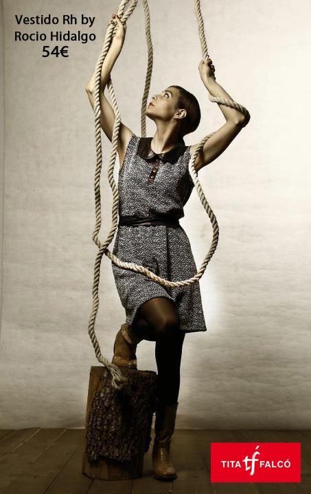 Vestido diseño de Rh by Rocio Hidalgo en www.titafalco.com