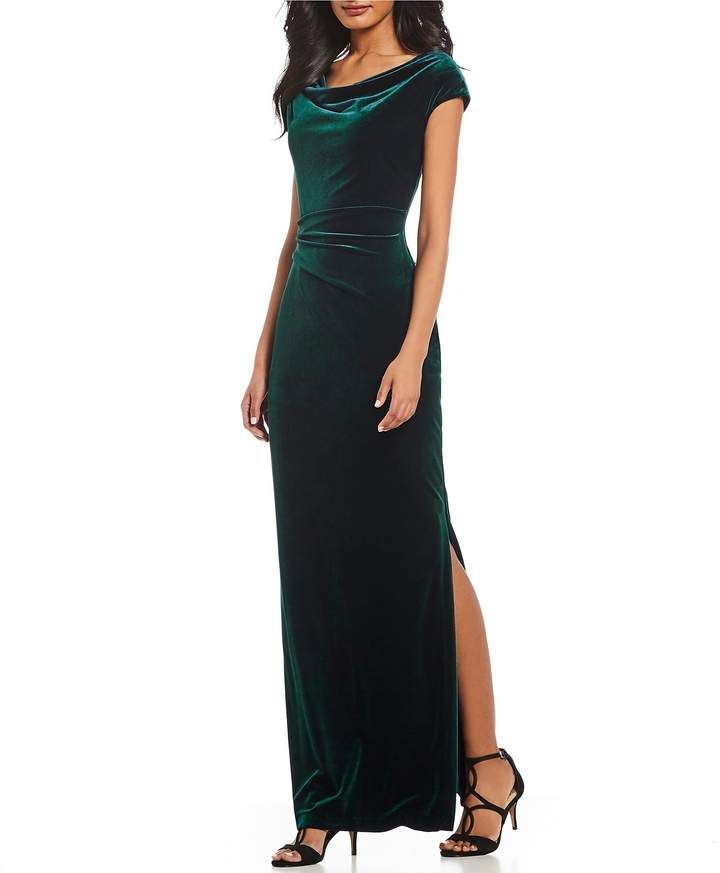 635b4a1cde9 Vince Camuto Ruched Cap Sleeve Velvet Gown  dillards  ad