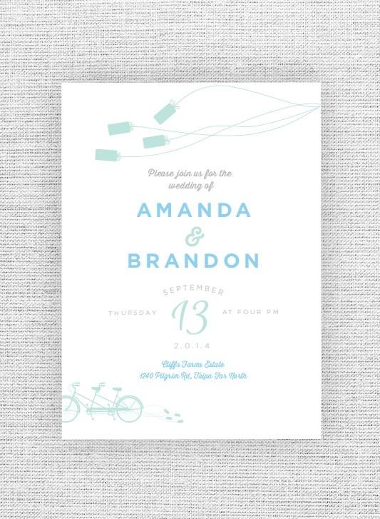 Can of Love wedding invite