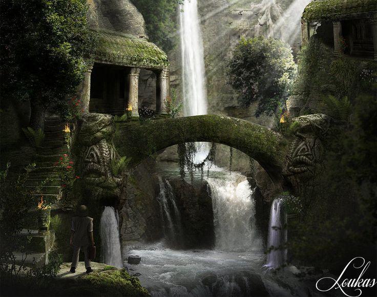 Ruins in the Jungle by Loukas-Art.deviantart.com on @DeviantArt