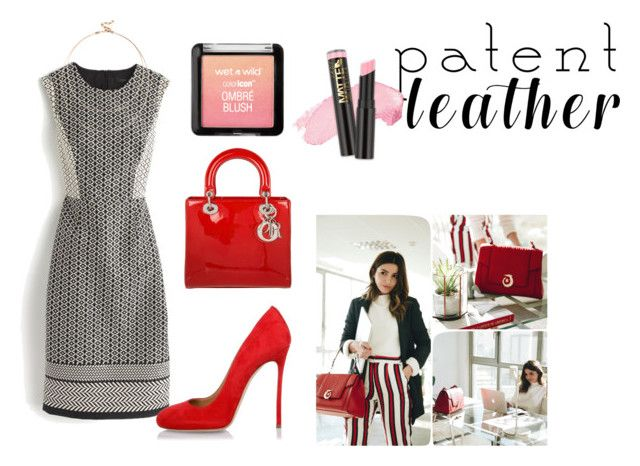 """#patentleather"" by rawal-sadhana on Polyvore featuring J.Crew, Dsquared2, Christian Dior, Sole Society and patentleather"
