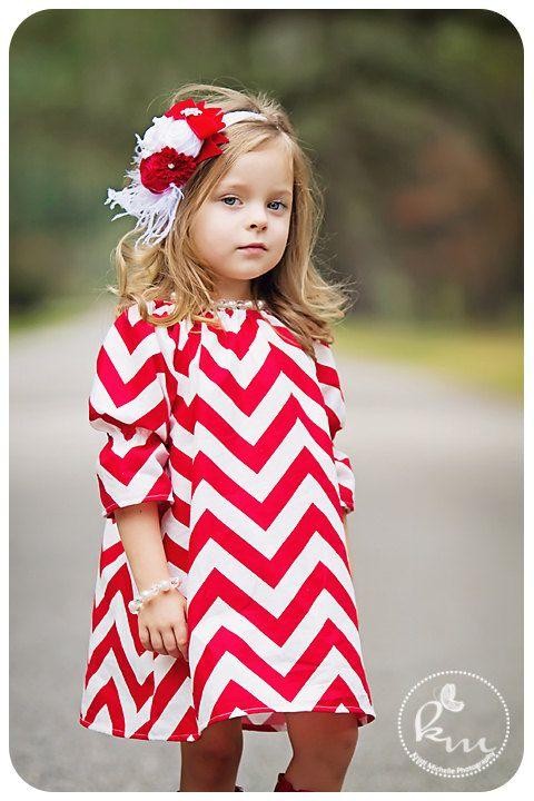 So cute!! ...Baby Headband, Headband, Children, Flower Headband, Christmas Headband, Baby, Photo Prop / Red and White Rosette Headband. $27.95, via Etsy.