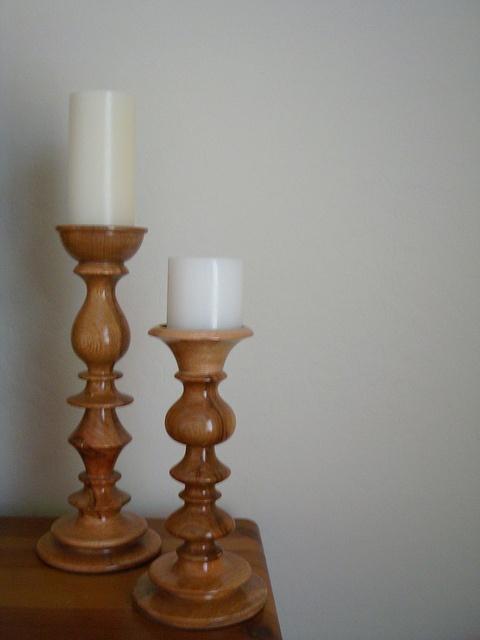 Mango Wood candle holders