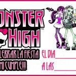 Invitació de monster high