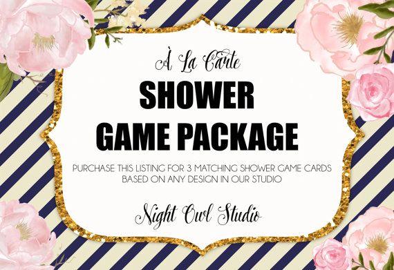 Shower Game Package-À La Carte Shower by NightOwlStudioDesign