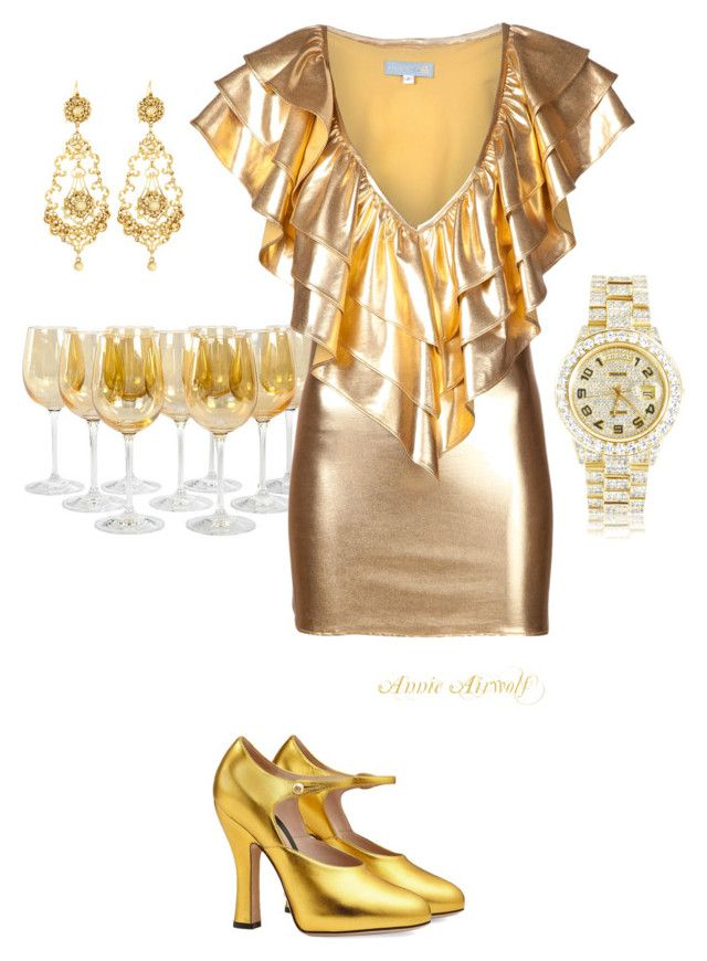 """Untitled #1261"" by annieairwolf ❤ liked on Polyvore featuring JULIA CLANCEY, Gucci, Rolex and Jose & Maria Barrera"