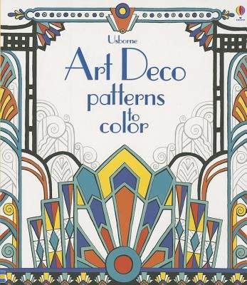 shows the use of colour in an art deco design (sun rise, zig zag and straight lines and curves).