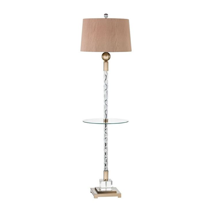 Dimond lighting brooke traditional gold and crystal floor lamp with tray table d3049f