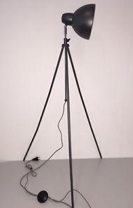 Studiolampe-Stehlampe-Tripod-Retro-Style-Metall-Anthrazit-40W-hoehenverstellbar