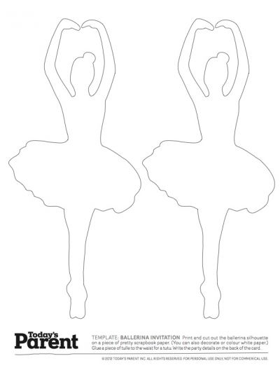 Invite download. designed for a ballerina party