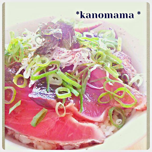 ゆうべの残りのかつおを 漬け丼に☆ - 133件のもぐもぐ - かつおの漬け丼*プラスしらす♪ by kanomama