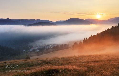 Misty Morning in Slovensky Raj by sstz2 mist sunrise forest misty slovakia slovensky raj mlynky Misty Morning in Slovensky Raj sstz2