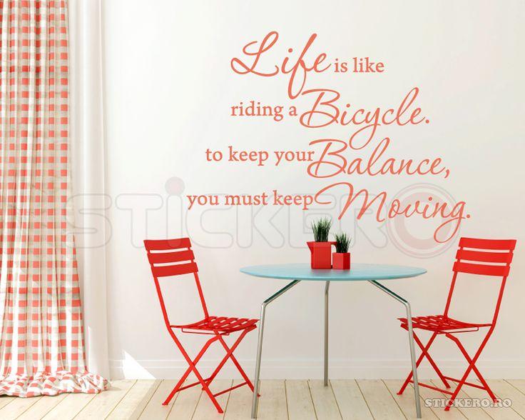 Life like a bicycle - sticker decorativ mesaj