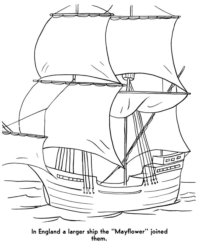 The Pilgrims Thanksgiving Story Coloring Page