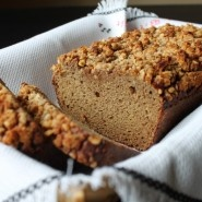 Coconut Flour Zucchini Bread (with Crumble Topping)