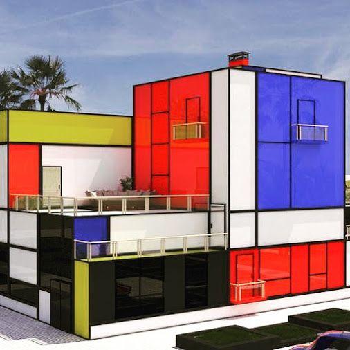 Mondrian House Bauhaus Movement De stijl, Arquitectos