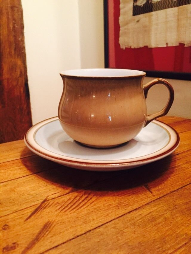 Denby Viceroy Small Coffee Cup and Saucer