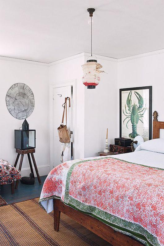 vintage chinese lantern in john derian's home / sfgirlbybay
