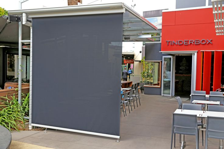 Straight drop awning by Vanguard (Tinderbox. Fortitude Valley. Brisbane)