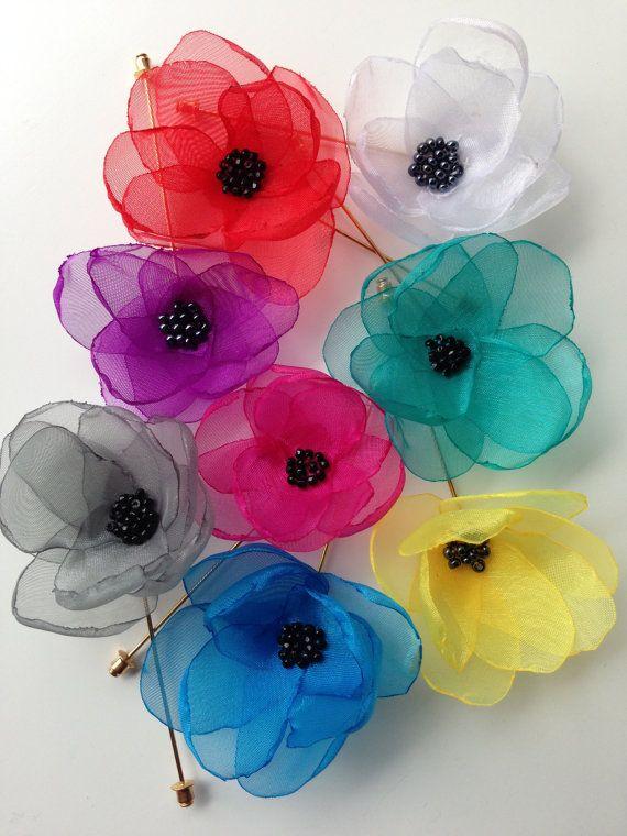 Mens Lapel Flower Mens Lapel Pins Wedding by WatfordTies on Etsy