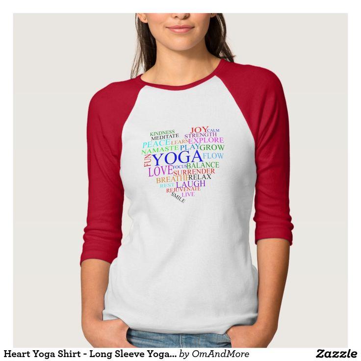 Het Overhemd van de Yoga van het hart - de Lange T Shirts