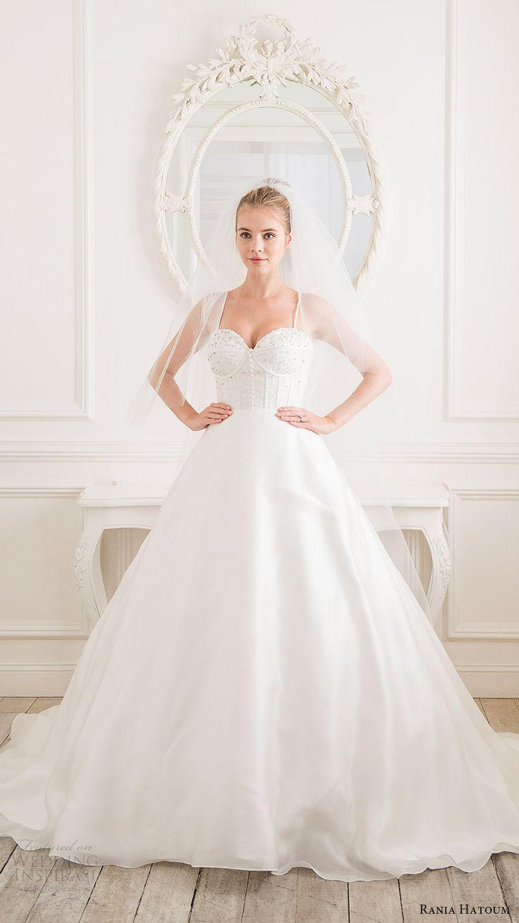 rania hatoum bridal spring 2017 sleeveless spaghetti straps ball gown wedding dress (victorian) mv