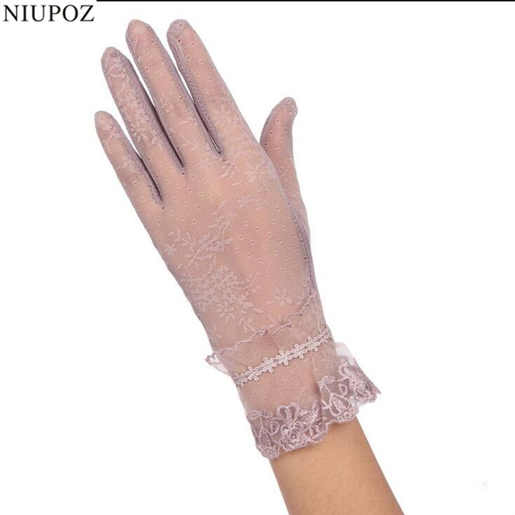>> Click to Buy << Sexy Spring Summer Women Autumn UV Sunscreen Short  Sun Gloves Fashion Ice Silk Lace Driving Of Thin Touch Screen Gloves G03C #Affiliate