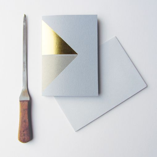 brass foiled card