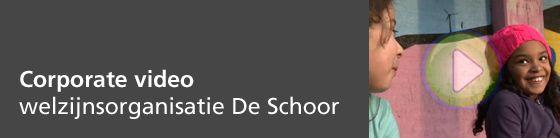 De Schoor viert in 2014 het 25-jarig bestaan en greep deze gelegenheid aan om een corporate video te laten maken die het werkveld en de diversiteit aan activiteiten van De Schoor weergeeft.