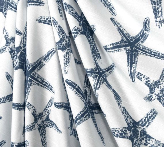 Panel Curtain.Star Fish.2 panel by TwistedBobbinDesigns on Etsy
