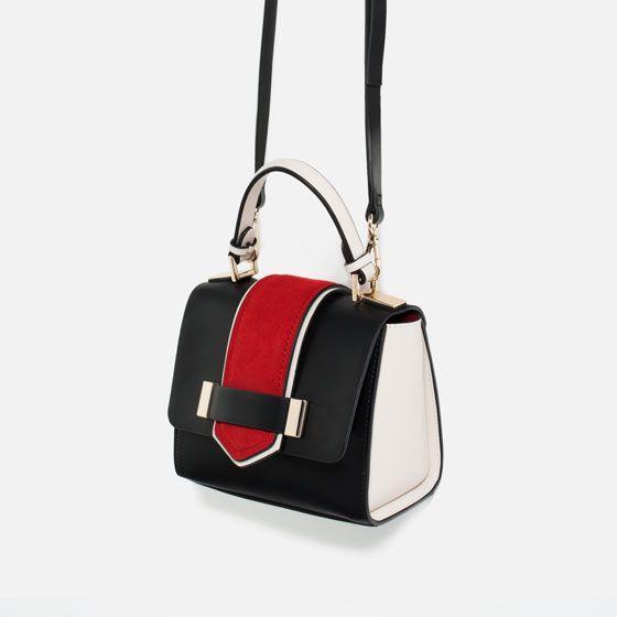 Image 7 of CONTRAST MINI CITY BAG from Zara