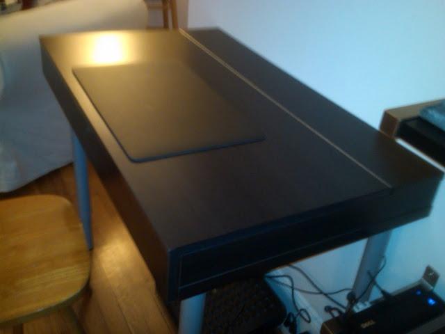 Turn an ikea folding desk into a convertible hidden - Table convertible ikea ...