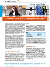 European Politics, Law & International Relations  #studyabroad #travel #europe #CES #CESMaastricht #Maastrichtuniversity #exchange