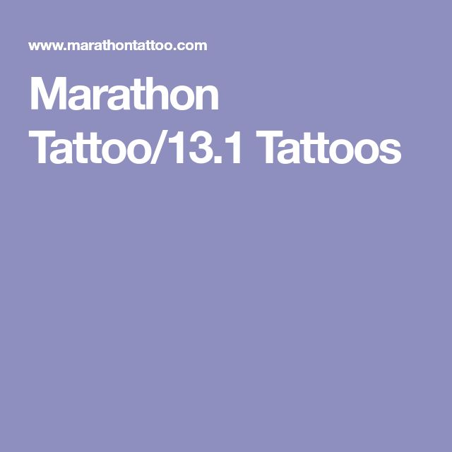 Marathon Tattoo/13.1 Tattoos