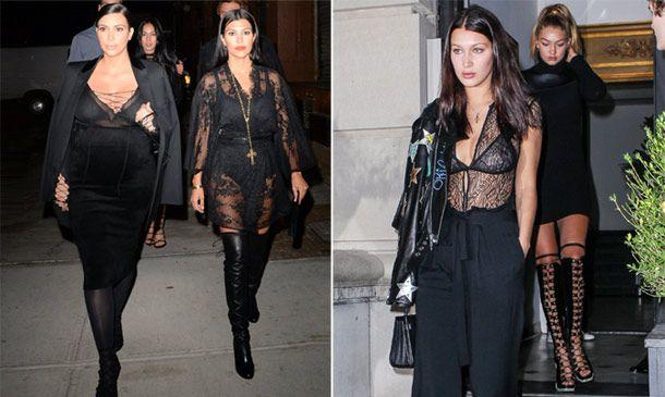 Esto es lo que pasa cuando las hermanas Kardashian y Hadid salen de fiesta
