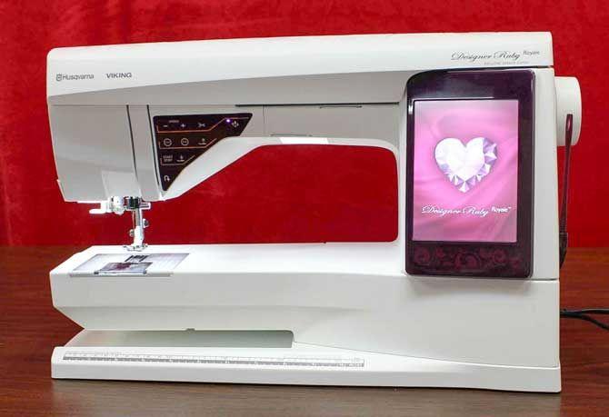 Introducing the Husqvarna Viking Designer Ruby Royale sewing machine - QUILTsocial