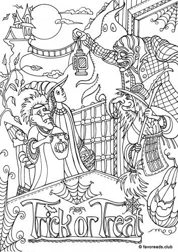 halloween coloring pages for adults - free printable coloring pages for adults