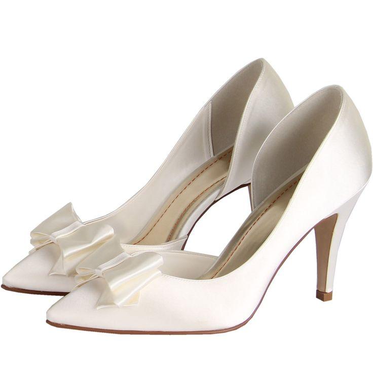 Chaussure mariage ivoire avec noeud et à talon haut Fiano par Else