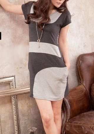 FR065 NEW STYLE COLOR BLOCK COTTON DRESS Price: PhP 350 Size: Free Color: Grey Condition: 100% Brand New / Without any accessories Remark: Please note that due to limitations in photography and the inevitable differences in monitor settings, the colors shown in the photography may not correspond 100% to those in the items themselves. Fabric: Cotton