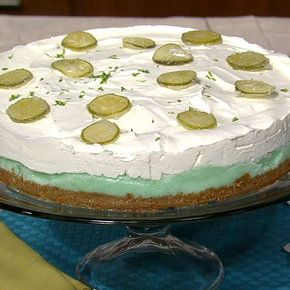 Frozen Key Lime Cake Carla Hall My husband will love this!