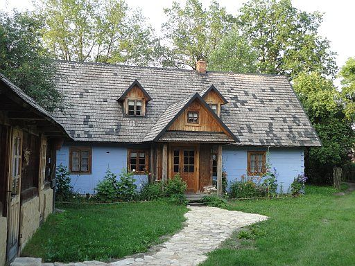 The old, wooden house from Roztocze region.  Find out more about PO Kingdom of Poland Tour itinerary: http://polishorigins.com/document/kingdom_tour