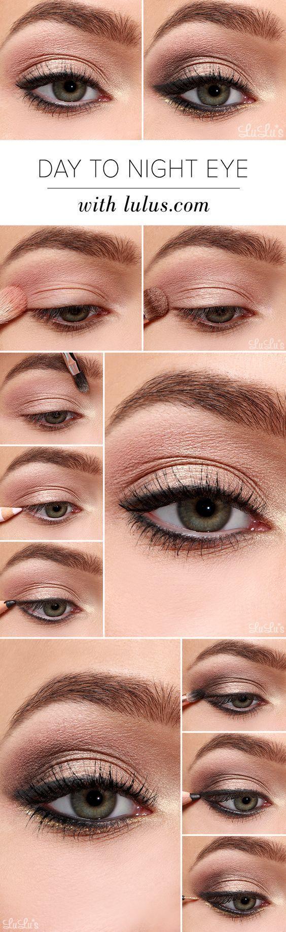 How To: Schritt für Schritt Augen Make-up-Tutorials und Anleitungen für Anfänger