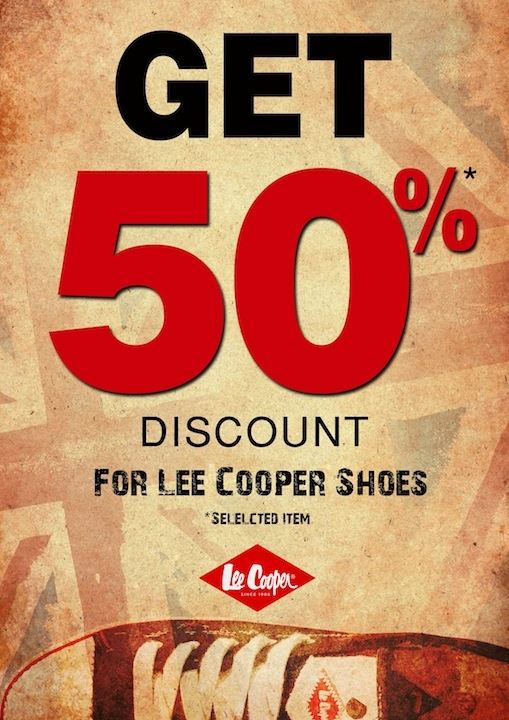 50% Off fro Shoes! Good deal, isn't it?